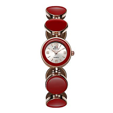 Χαμηλού Κόστους Ανδρικά ρολόγια-SOXY Γυναικεία Βραχιόλι Ρολόι Χαλαζίας Μαύρο / Λευκή / Κόκκινο 30 m Καθημερινό Ρολόι / Αναλογικό κυρίες Καθημερινό Μοντέρνα Κομψό Ρολόι Φορέματος - Λευκό Μαύρο Κόκκινο / Ενας χρόνος / Ενας χρόνος