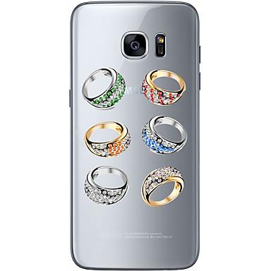 Mert Samsung Galaxy S7 Edge Minta Case Hátlap Case Apple logo Puha TPU Samsung S7 edge / S7 / S6 edge plus / S6 edge / S6