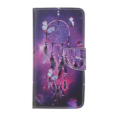 용 아이폰7케이스 / 아이폰6케이스 / 아이폰5케이스 지갑 / 카드 홀더 / 스탠드 / 플립 / 엠보싱 텍스쳐 / 패턴 케이스 풀 바디 케이스 버터플라이 하드 인조 가죽 Apple아이폰 7 플러스 / 아이폰 (7) / iPhone 6s