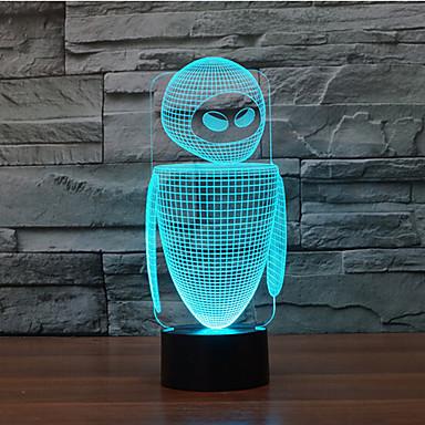 1 db 3D éjszakai fény Dekoratív LED