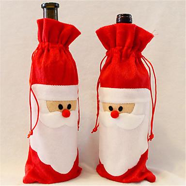 1 db piros borosüveg fedél mikulás karácsonyi asztalnál dekoráció házibuli