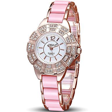 아가씨들 패션 시계 손목 시계 캐쥬얼 시계 / 석영 세라믹 밴드 멋진 캐쥬얼 블랙 브라운 핑크 퍼플