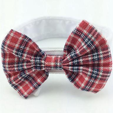 Kot Pies Święta Bożego Narodzenia Krawat/Muszka Ubrania dla psów Kokarda Rose Czerwony Czarny/Czerwony Black/White Red/White Bawełna