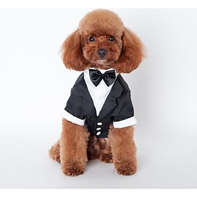 강아지 의상 강아지 의류 웨딩 브리티쉬 블랙