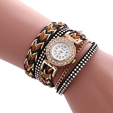 여성용 팔찌 시계 패션 시계 캐쥬얼 시계 석영 / 뜨거운 판매 PU 밴드 캐쥬얼 멋진 화이트 블루 레드 브라운 그린 로즈