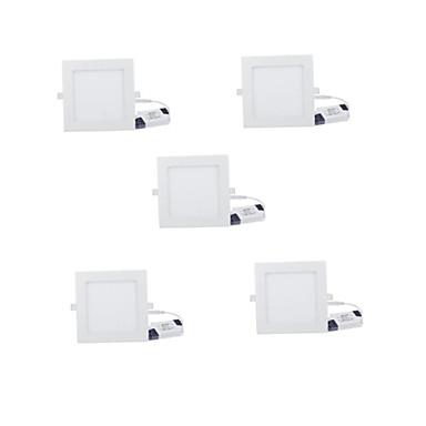 6W Luminária de Painel 30 LED de Alta Potência 480 lm Branco Quente Branco Frio Decorativa AC 85-265 V 5 pçs
