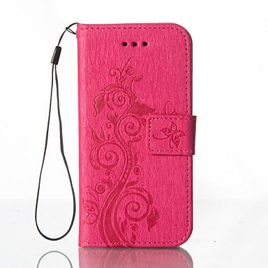 Mert Samsung Galaxy tok Kártyatartó / Pénztárca / Állvánnyal / Flip / Dombornyomott / Minta Case Teljes védelem Case Pillangó Kemény Műbőr