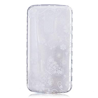 케이스 제품 LG G3 LG의 K8 LG LG의 K4 LG K10 LG의 K7 LG G5 LG G4 LG케이스 투명 패턴 뒷면 커버 버터플라이 소프트 TPU 용
