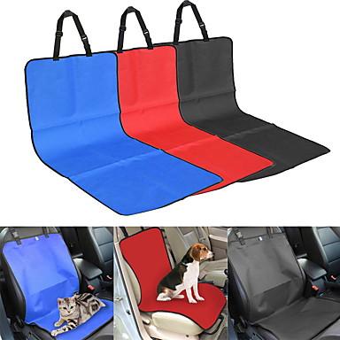 Gatto Cane Fodera per sedile auto Animali domestici Coperte Tinta unita A quadri Ompermeabile Ripiegabile Nero Beige Grigio Rosso Blu Per