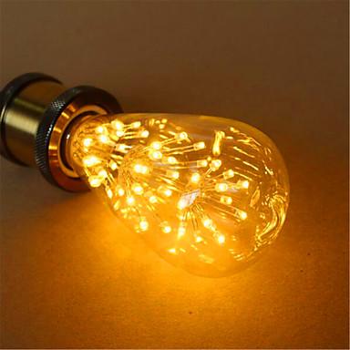 E26/E27 LED gömbbúrás izzók ST64 54 led Dip LED Dekoratív Meleg fehér 800lm 2300K AC 220-240V