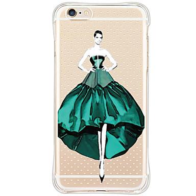 용 아이폰6케이스 아이폰6플러스 케이스 케이스 커버 충격방지 투명 패턴 뒷면 커버 케이스 섹시 레이디 소프트 TPU 용 AppleiPhone 6s Plus iPhone 6 Plus iPhone 6s 아이폰 6 iPhone SE/5s iPhone