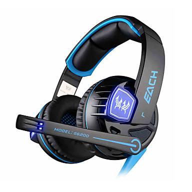중립 제품 G6200 해드폰 (헤드밴드)For미디어 플레이어/태블릿 / 모바일폰 / 컴퓨터With마이크 포함 / DJ / 볼륨 조절 / 게임 / 스포츠 / 소음제거 / Hi-Fi / 모니터링(감시)