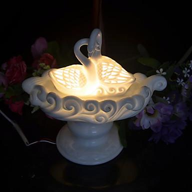 1db üreges kerámia ki kézműves dugva a villamos hattyú illat lámpa