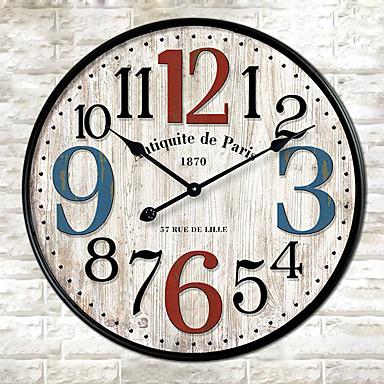 Modern / Contemporary Inne Zegar ścienny,Zaokrąglanie Inne 30*30cm*3cm Domowy Zegar