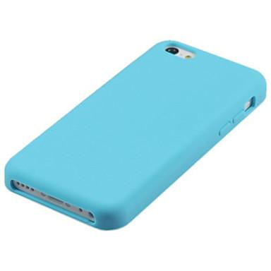 voordelige iPhone 5 hoesjes-hoesje Voor iPhone 5 / Apple iPhone SE / 5s / iPhone 5 Schokbestendig Achterkant Effen Zacht Siliconen
