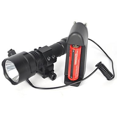 LED손전등 LED 5000 lm 1 모드 Cree XM-L T6 배터리, 충전기 포함 방수 슈퍼 라이트 캠핑/등산/동굴탐험 다이빙/보트 사냥 여행 수중 스포츠 멀티기능
