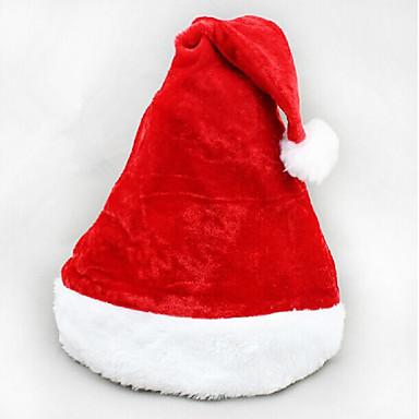 2szt święta krótki pluszowe aksamitny kapelusz santa super miękkie Narodzenie kapelusz
