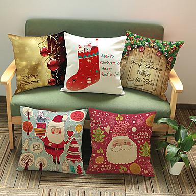 1 szt Cotton / Linen Poszewka na poduszkę, Święto Akcent / Decorative