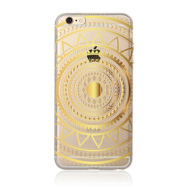 Case Kompatibilitás Apple iPhone X iPhone 8 Plus iPhone 5 tok iPhone 6 iPhone 7 Áttetsző Minta Fekete tok Mandala Puha TPU mert iPhone X