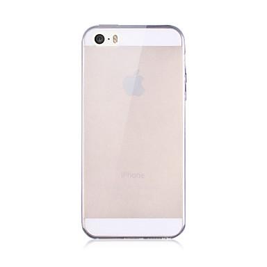 케이스 제품 iPhone 5 / Apple / iPhone X iPhone X / iPhone 8 / 아이폰5케이스 투명 뒷면 커버 솔리드 소프트 TPU 용 iPhone X / iPhone 8 Plus / iPhone 8