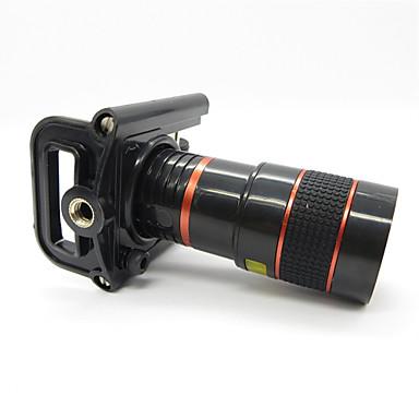 Cep Telefonu için Evrensel metal klipsli Evrensel 8X Telefoto Lens - Kırmızı + Siyah
