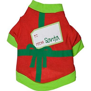 Cica Kutya Póló Kutyaruházat Szabadság Karácsony Színes Fekete Zöld Jelmez Háziállatok számára