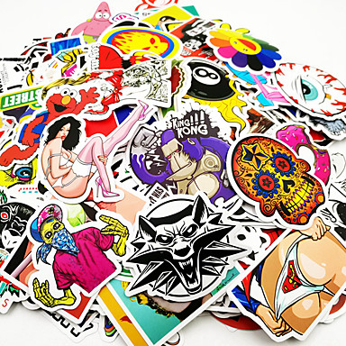 ZIQIAO 자동차 스티커 카툰 방수 캐릭터 스티커