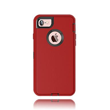 제품 iPhone X iPhone 8 iPhone 7 iPhone 7 Plus 케이스 커버 물 / 먼지 / 충격 증명 윈도우 풀 바디 케이스 한 색상 하드 PC 용 Apple iPhone X iPhone 8 Plus iPhone 8 아이폰 7