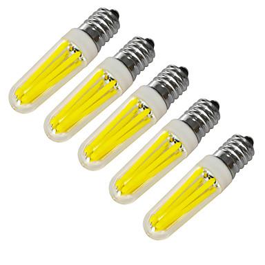 JIAWEN 360 lm E14 LED gyertyaizzók 4 led COB Dekoratív Meleg fehér Hideg fehér AC 220V AC 220-240V