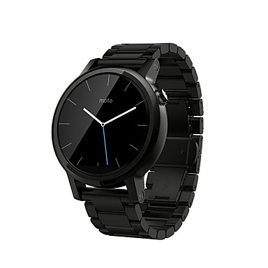 billige Se band for Motorola-Klokkerem til Moto 360 Motorola Klassisk spenne Rustfritt stål Håndleddsrem