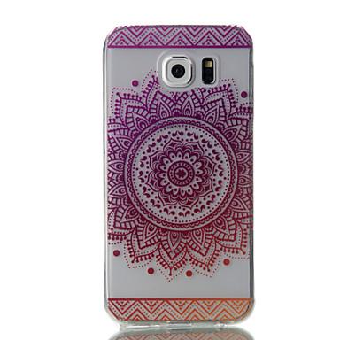 Kılıf Na Samsung Galaxy S7 edge S7 Ultra cienkie Przezroczyste Wzór Czarne etui Kwiaty Miękkie TPU na S7 edge S7 S6 edge S6 S5
