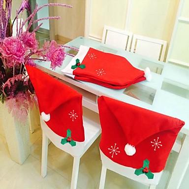 1 개 크리스마스 장식 비 눈송이 의자 덮개 직물 50 * 65cm 눈송이 의자는 크리스마스 물건을 설정