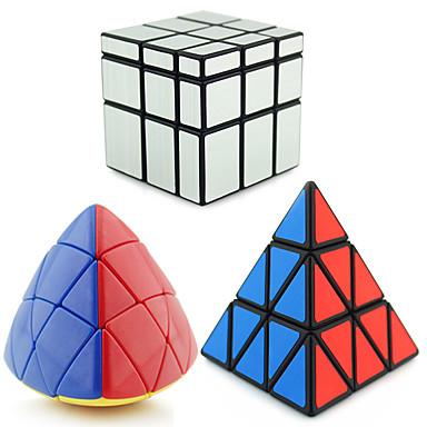 루빅스 큐브 피라몰픽스 피라 밍크 스 에일리언 거울 큐브 3*3*3 부드러운 속도 큐브 매직 큐브 퍼즐 큐브 전문가 수준 속도 삼각형 새해 어린이날 선물