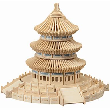나무 퍼즐 중국건축물 천국의 사원 전문가 수준 나무 크리스마스 카니발 어린이날 여아 남아 선물