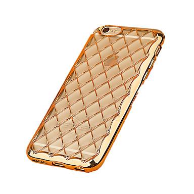 용 아이폰7케이스 / 아이폰7플러스 케이스 / 아이폰6케이스 도금 / 울트라 씬 케이스 뒷면 커버 케이스 단색 소프트 TPU Apple 아이폰 7 플러스 / 아이폰 (7) / iPhone 6s Plus/6 Plus / iPhone 6s/6