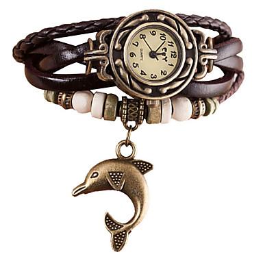 Women's Quartz Wrist Watch Bracelet Watch Rhinestone Imitation Diamond Punk PU Band Vintage Casual Bohemian Fashion Black White Blue Red