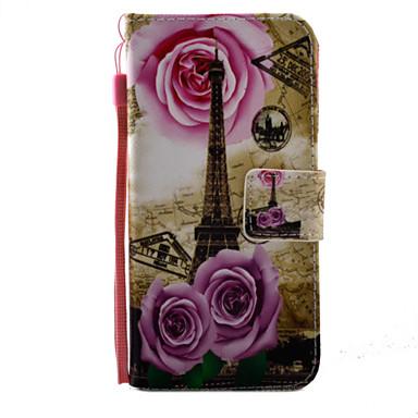 Mert Kártyatartó / Flip / Minta Case Teljes védelem Case Eiffel torony Kemény Műbőr AppleiPhone 7 Plus / iPhone 7 / iPhone 6s Plus/6 Plus