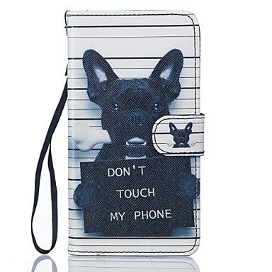 voordelige Galaxy J-serie hoesjes / covers-hoesje Voor Samsung Galaxy J5 (2016) / J5 Portemonnee / Kaarthouder / met standaard Volledig hoesje Hond Hard PU-nahka