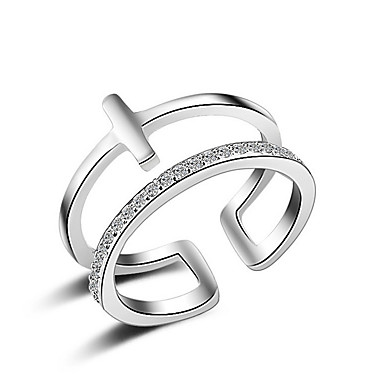 Női Imádni való Kristály / Szintetikus gyémánt Rose Gold / Ezüst Ujjperc gyűrű / Band Ring - Szexi / Multi-módon kell viselni / Divat