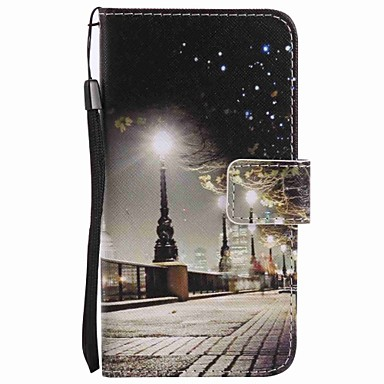 케이스 제품 Samsung Galaxy A5(2016) A3(2016) 지갑 카드 홀더 스탠드 풀 바디 시티 뷰 하드 인조 가죽 용 A5(2016) A3(2016)