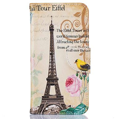 Case Kompatibilitás Samsung Galaxy J5 (2016) Pénztárca Kártyatartó Állvánnyal Minta Teljes védelem Eiffel torony Kemény Műbőr Bőr mert J5