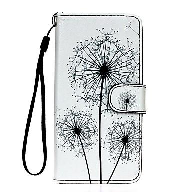Case Kompatibilitás Samsung Galaxy S7 edge S7 Kártyatartó Pénztárca Állvánnyal Teljes védelem Pitypang Kemény Műbőr Bőr mert S7 edge S7