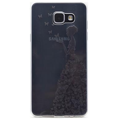 케이스 제품 Samsung Galaxy A5(2016) A3(2016) 투명 패턴 뒷면 커버 섹시 레이디 소프트 TPU 용 A5(2016) A3(2016)