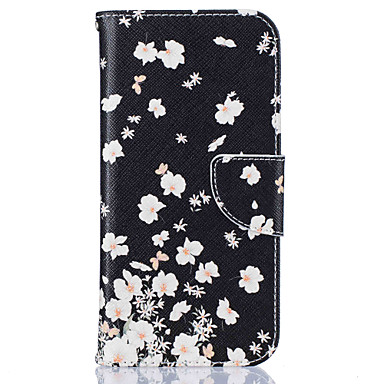 Card Holder Wallet with Stand  Flower Pattern Case Full Body Case Hard PU Leather For Samsung Galaxy S7 edge S7 S6 edge S6 S5