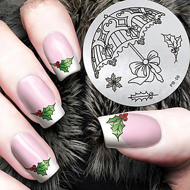 1 pcs tłoczenie Plate Szablon Nail Art Design Modny design Elegancki / Modny Codzienny