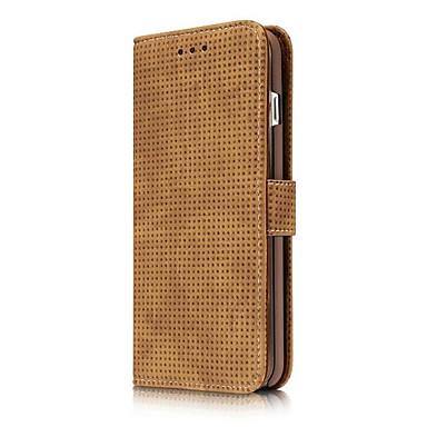 Kılıf Na Apple iPhone 6 iPhone 7 Plus iPhone 7 Etui na karty Z podpórką Flip Pełne etui Solid Color Twarde Skóra PU na iPhone 7 Plus