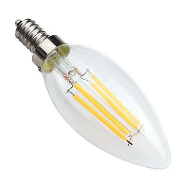 KWB 1pc 400 lm E14 LED Λάμπες Πυράκτωσης C35 4 leds COB Με ροοστάτη Διακοσμητικό Θερμό Λευκό AC 220-240V