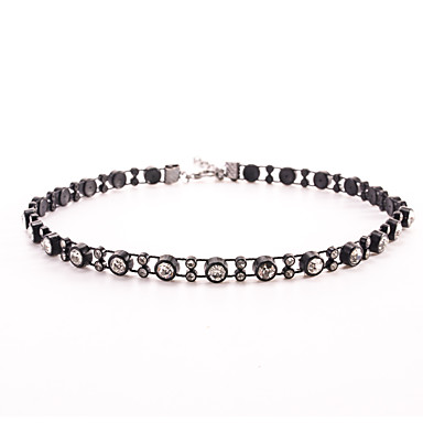 cheap Necklaces-Women's Crystal Choker Necklace Personalized Unique Design Basic Punk Crystal Imitation Diamond Black Necklace Jewelry For Wedding Party Daily Casual Sports