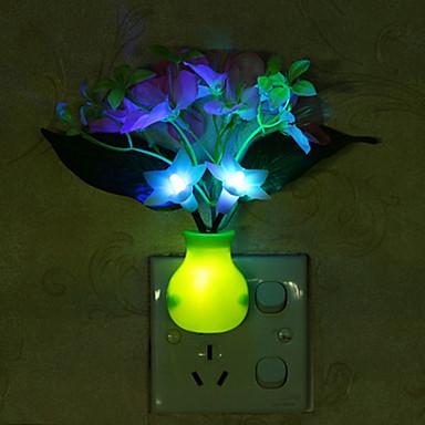 1 szt. Wall Plug Nightlight Akumulator Zmieniająca Kolor Łatwe przenoszenie Niewielki rozmiar Mały rozmiar ABS
