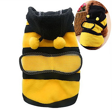 cheap Dog Clothing & Accessories-Cat Dog Costume Hoodie Dog Clothes Animal Yellow Cotton Costume For Bulldog Shiba Inu Cocker Spaniel Spring &  Fall Summer Men's Women's Cosplay